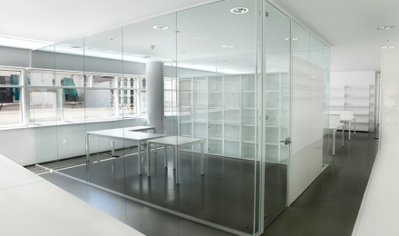 Oficinas centrales del macba artis for Oficinas bbva terrassa